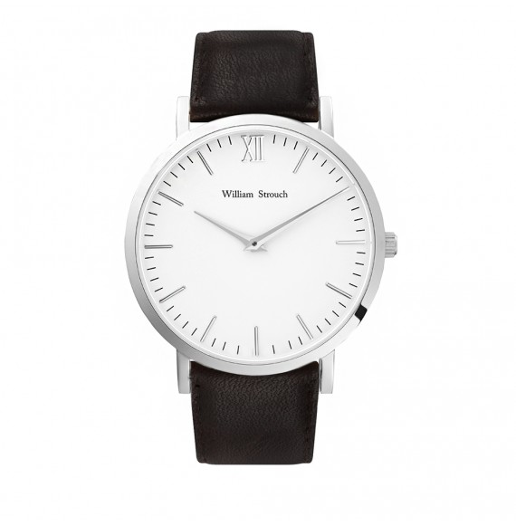 SILVER AND BROWN WATCH