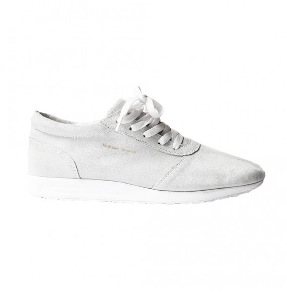 WHITE SUEDE SNEAKER