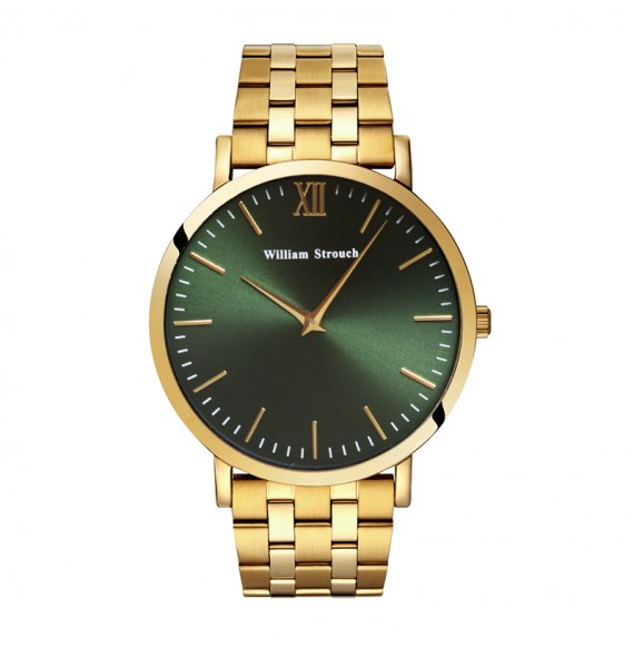 Gold and Green watch